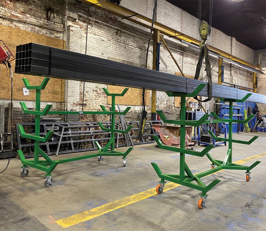 Zanesville Steel Custom Racks With Casters