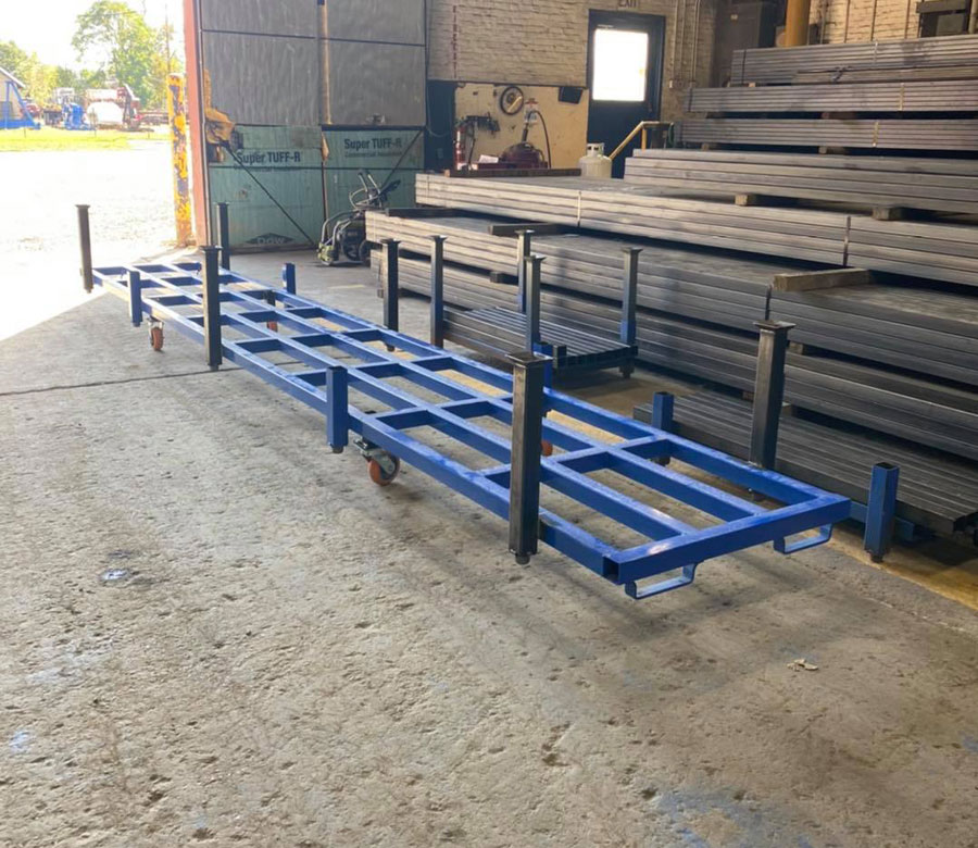 Zanesville Steel Stackable Shipping Racks
